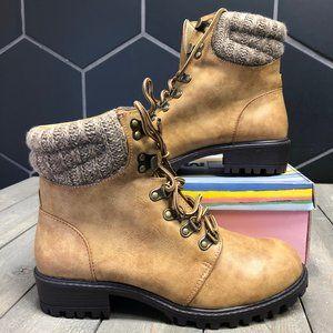 New W/ Box Kids Mia Windy Natural Brown High Boots